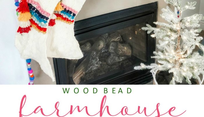 Farmhouse Wood Bead and Pom Pom Garland