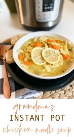 The BEST Instant Pot Homemade Chicken Noodle Soup