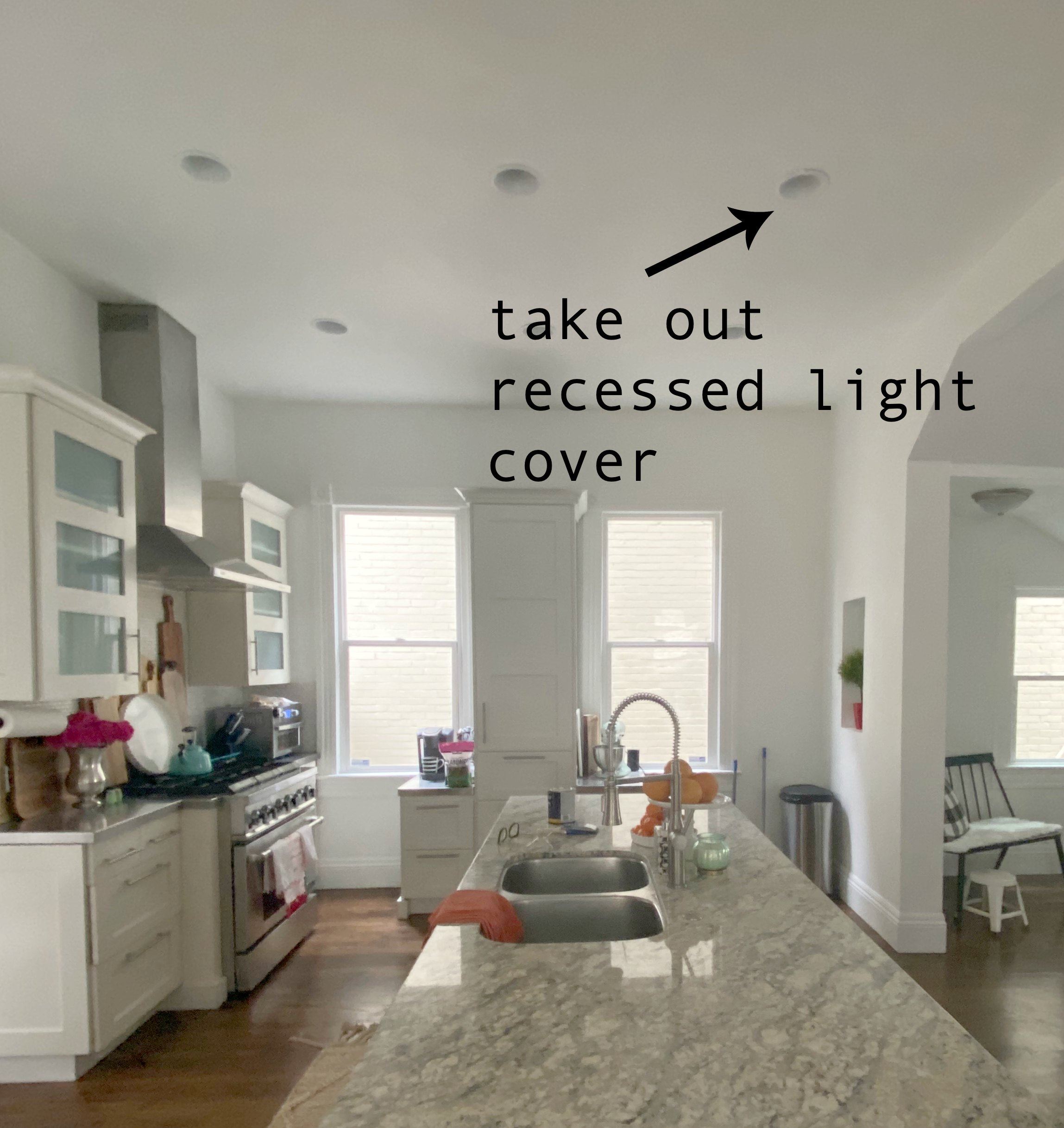 a recessed can light to a pendant light