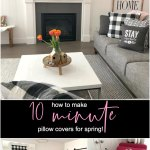 Make 10 Minute Pillow Covers For Spring Farmhouse Buffalo Check Covers