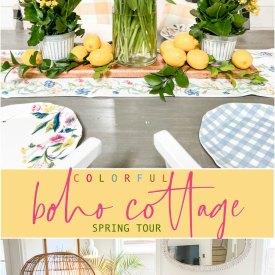 Spring Boho Cottage Home Tour