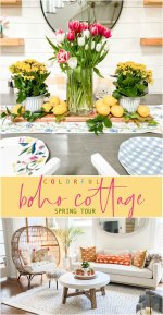 Colorful Boho Cottage Spring Tour