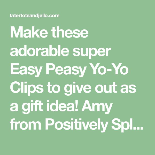 Easy peasy yo yo clips. Create adorable bookmarks by making fabric yo yo's and attaching them to paper clips. Kids will love this easy craft.
