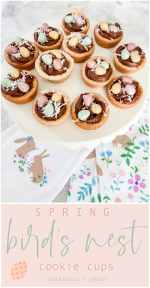 Bird's Nest Cookie Cups