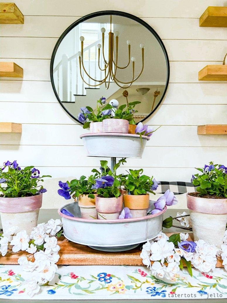 DIY Terra cotta pots with shine.