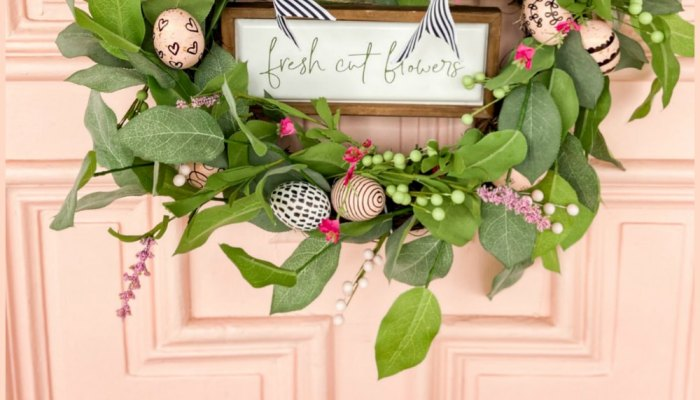 Farmhouse Spring Sharpie Egg Wreath