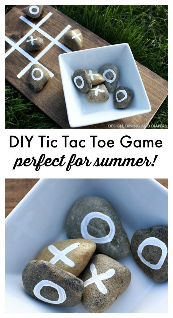 DIY tic tac toe game and 1 month of free kids craft ideas with amazon links.