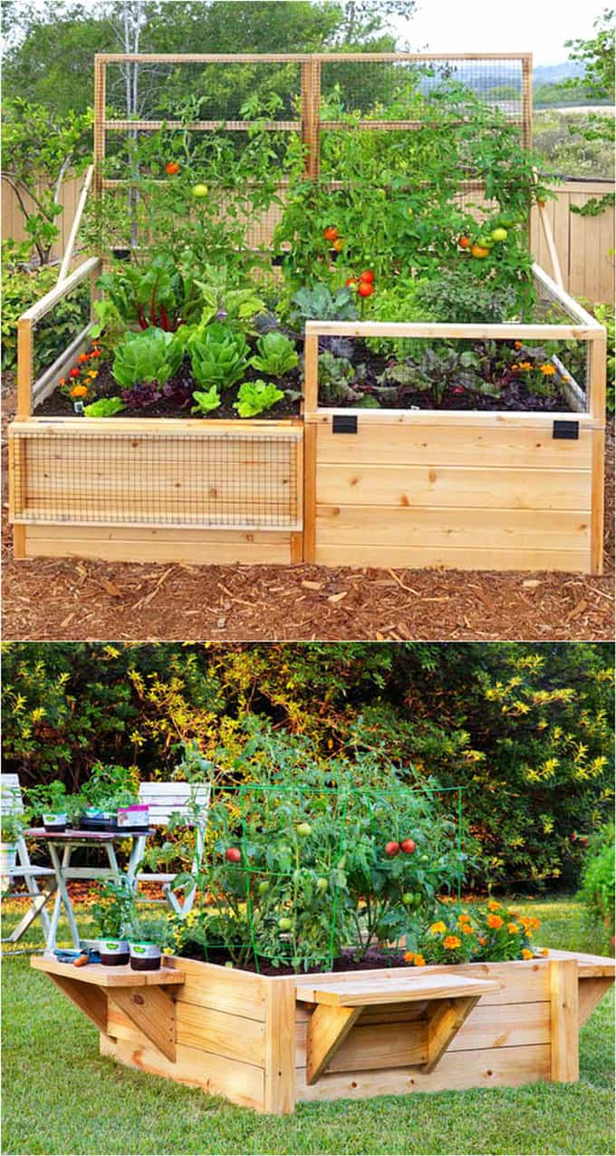 How to Make a Simple Garden Planter Box. Grow your own veggies this year with a simple garden box. You can use the box for years to come for healthy homegrown vegetables!