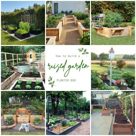 how to build raised planter garden boxes