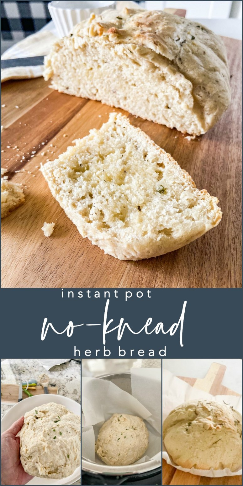 Instant Pot No-Knead Herb Bread. Save time by using your Instant Pot to proof this soft and flavorful bread with a crunchy crust. You'll never want to buy supermarket bread again!