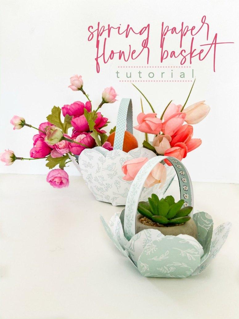 DIY Paper Easter Gift Baskets