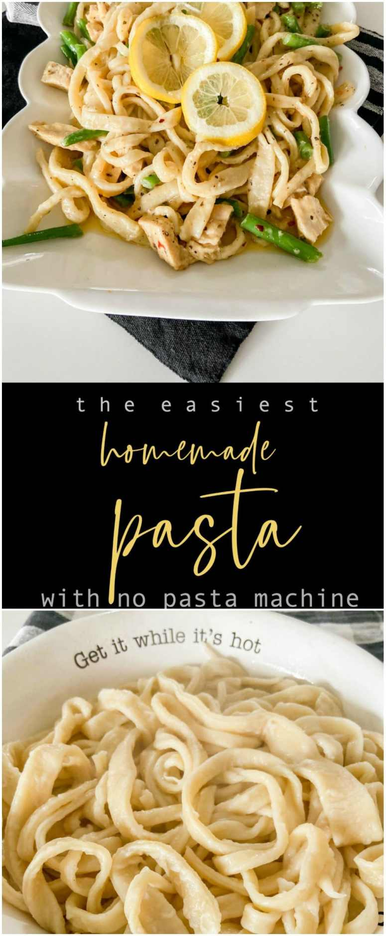 The easiest homemade pasta recipe with no machine! You only need a few simple ingredients to make your own pasta. Create spaghetti, fettuccine or even ravioli with this easy recipe and no machine is needed!