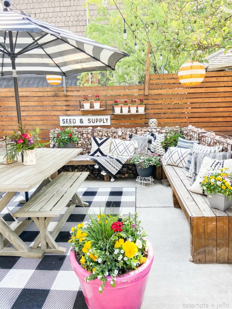 Bright modern farmhouse patio