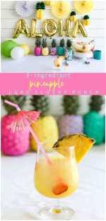 Pineapple Lime Luau Slushy Punch!