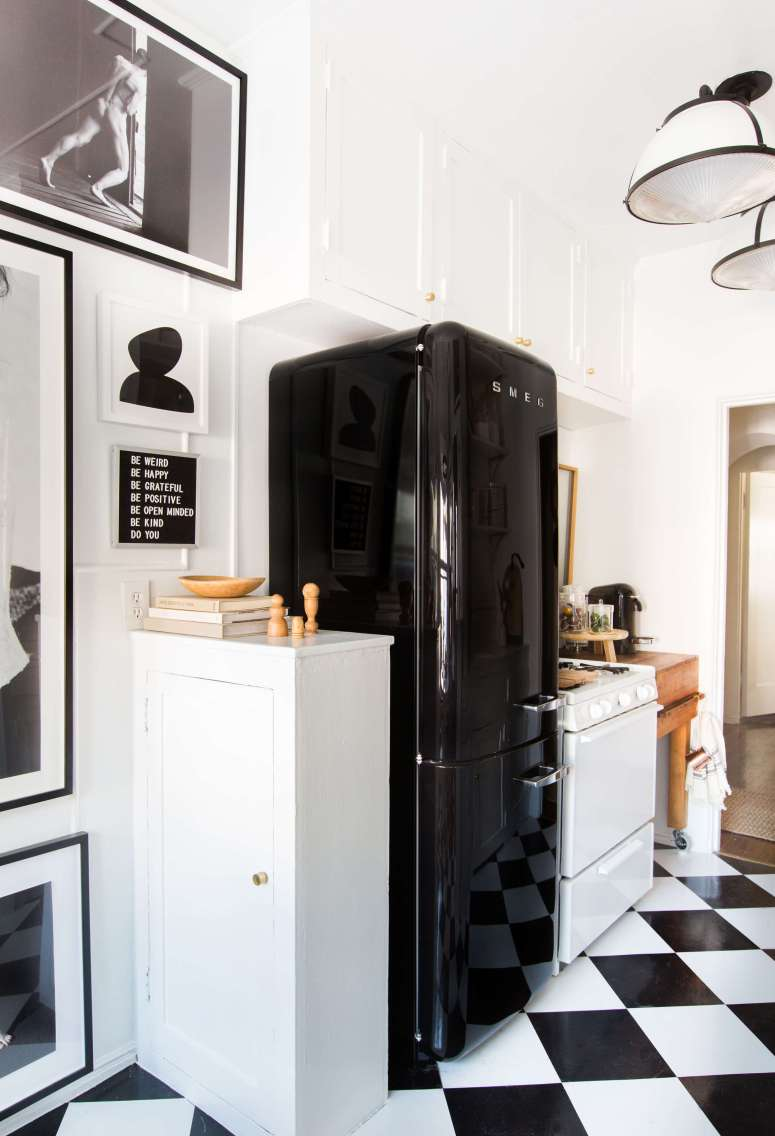 Black Smeg Kitchen