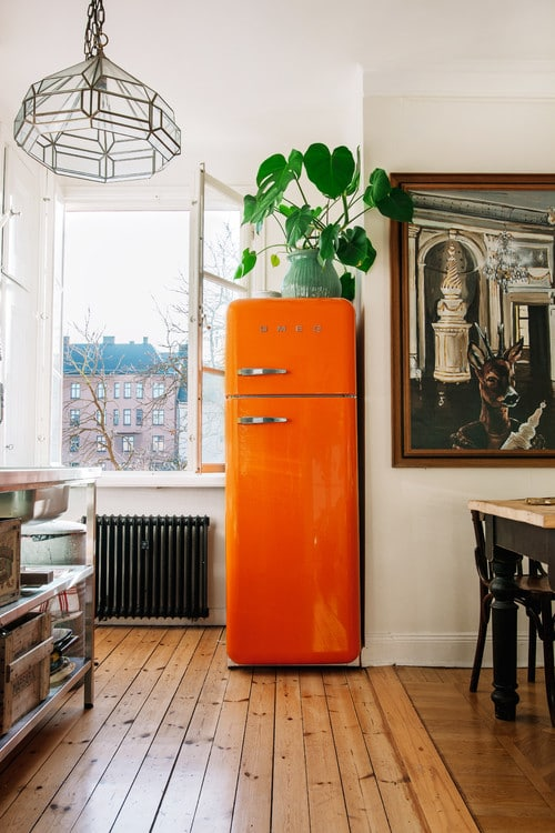 Orange Smeg Kitchen