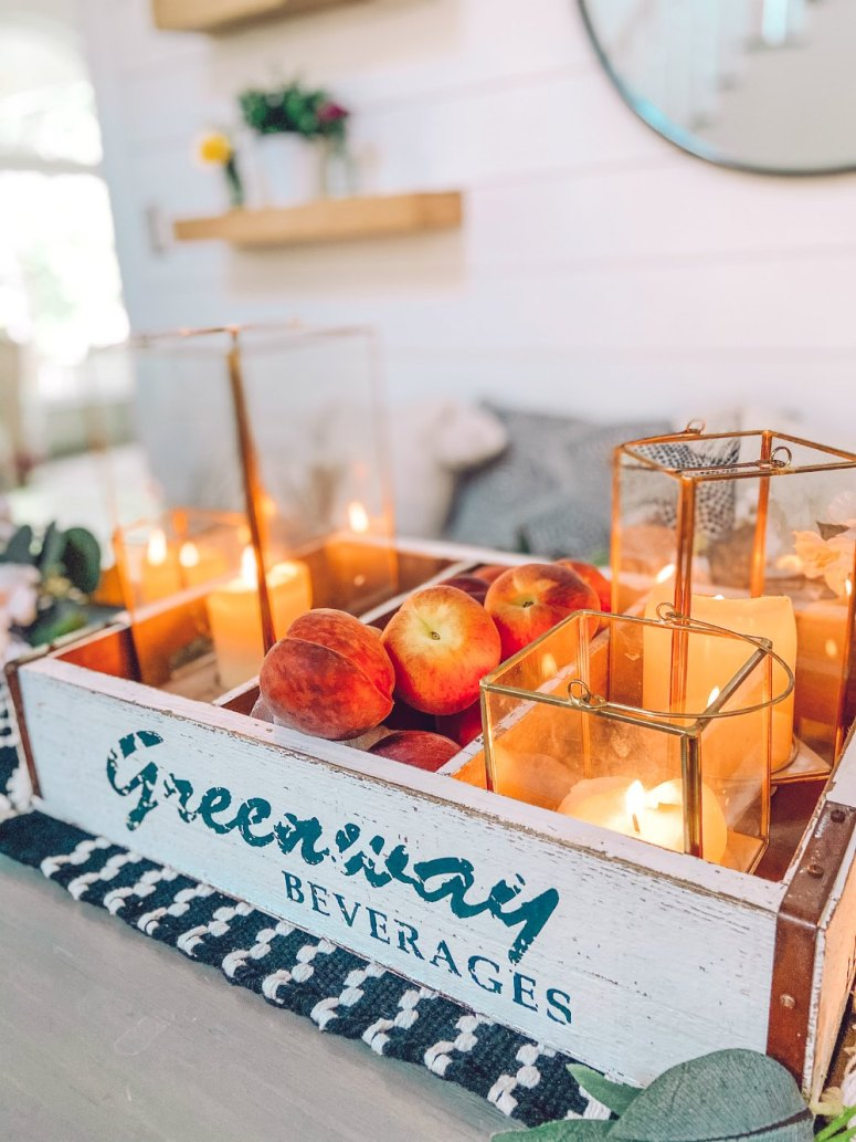 Boho cottage dining room centerpiece idea for summer