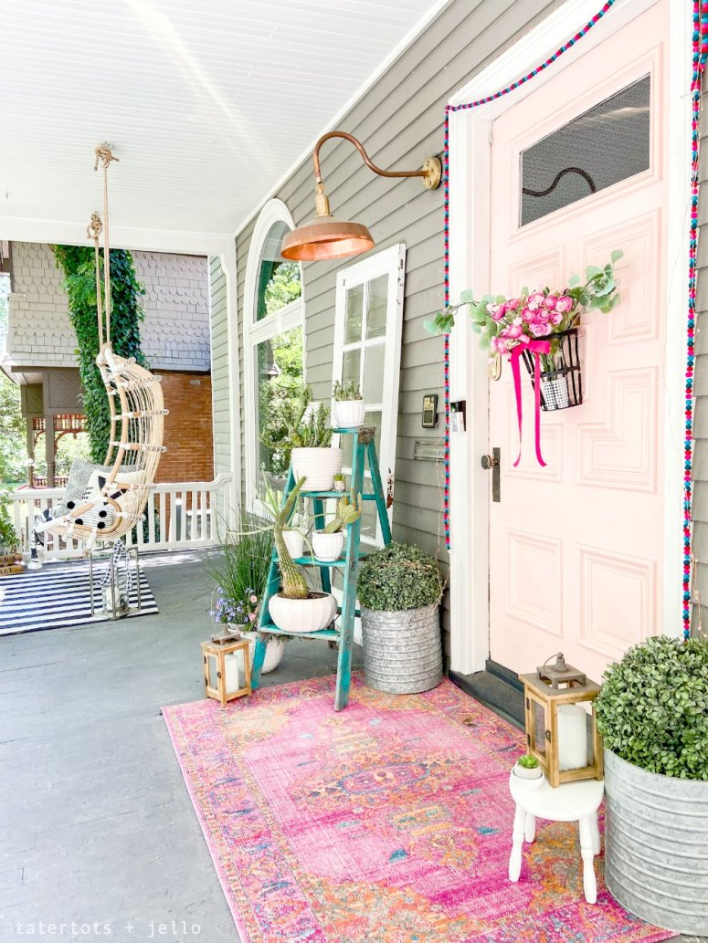 bright bohemian porch