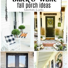 12 Black adn White Porch Ideas for Fall!