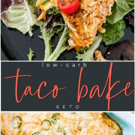 Low Carb Cheesy Taco Bake Keto Recipe