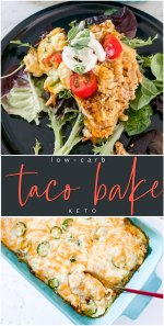 Low Carb Cheesy Taco Bake – Keto