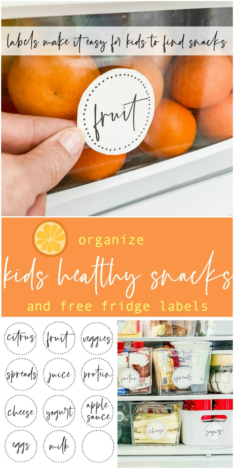 Label healthy snacks and lunch items with these easy to use free fridge labels,