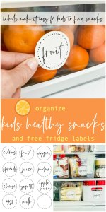 Easy Kids' Grab-and-Go Snacks and Lunches plus Printable Fridge Labels!