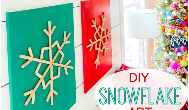 DIY Wood Snowflake Art