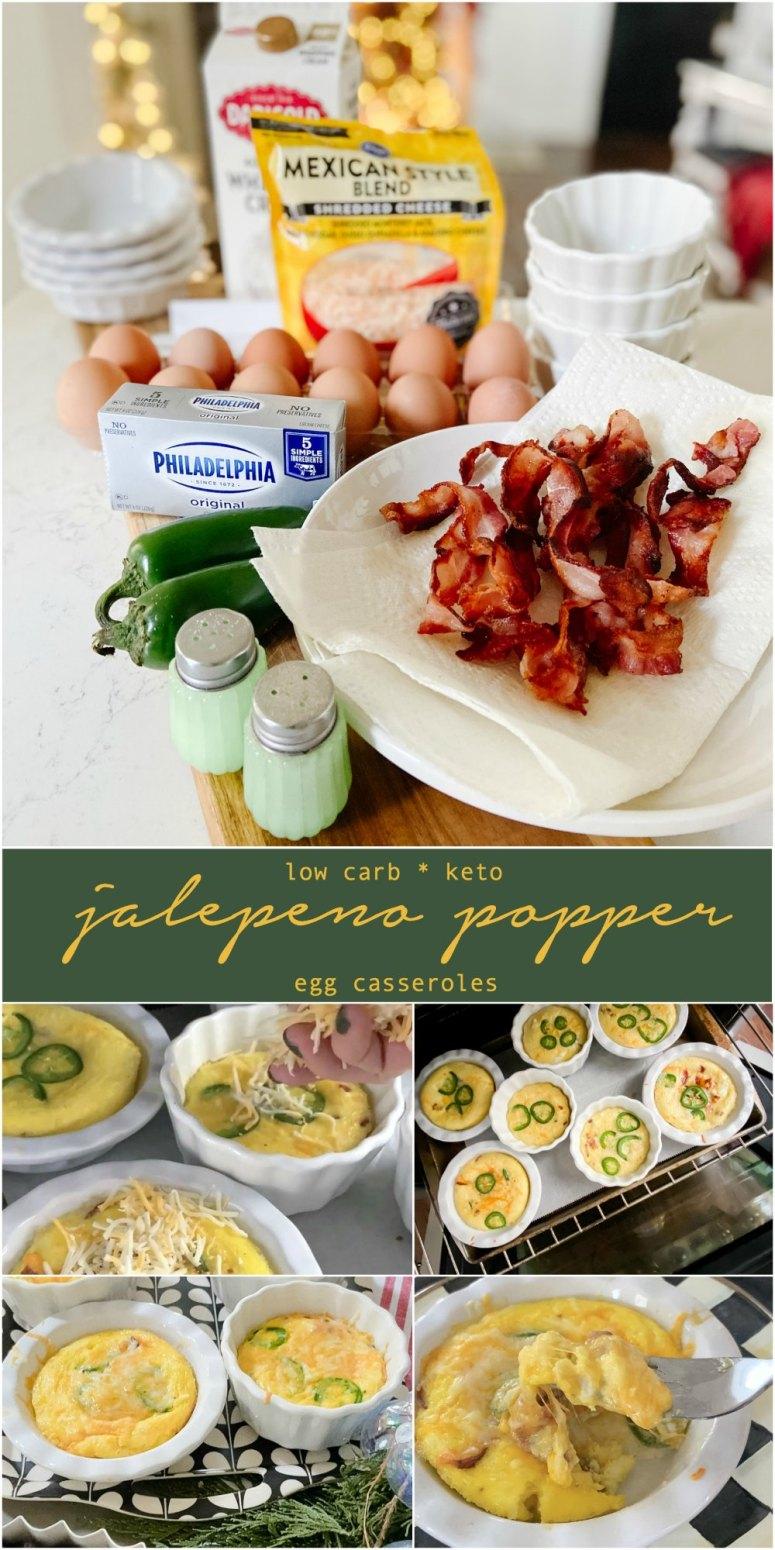 Casseroles à popper Jalapeno à faible teneur en glucides