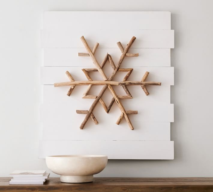 Wood Snowflake Art