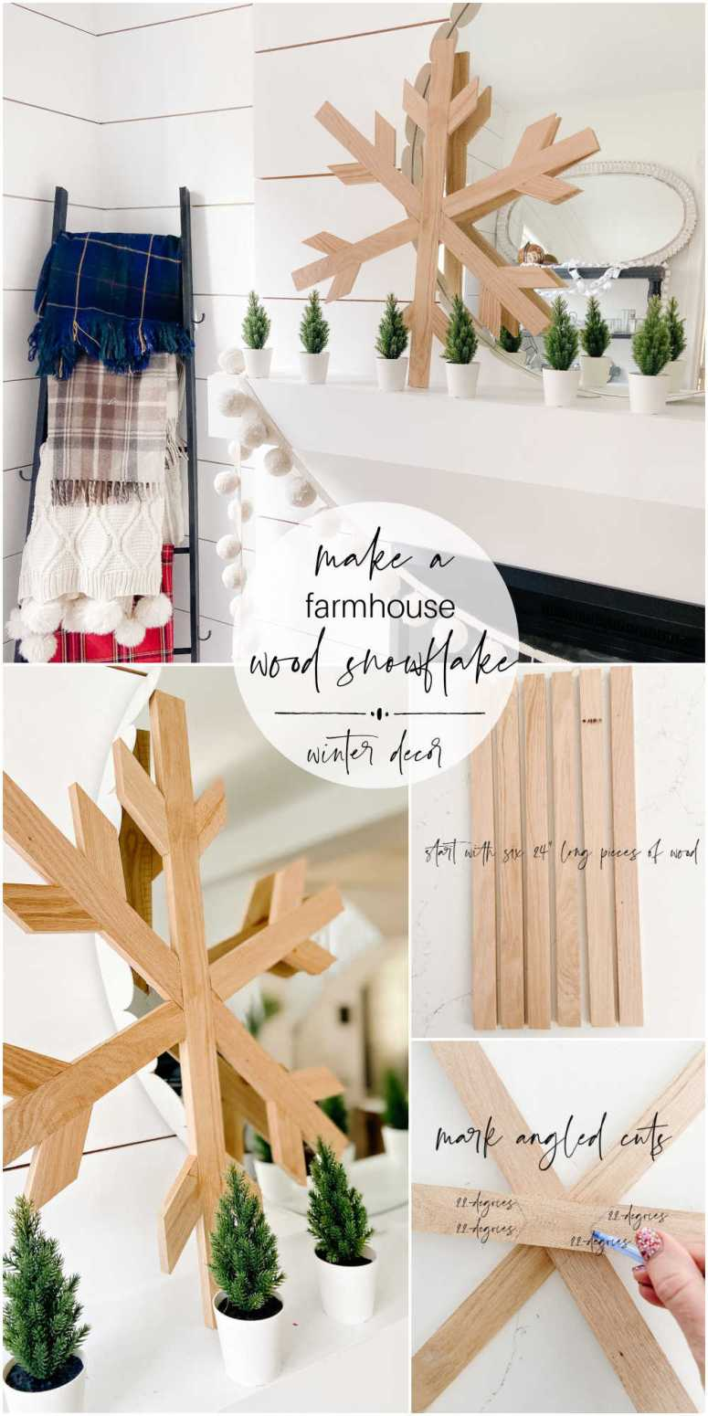 How to Make a Farmhouse Winter Wood Snowflake