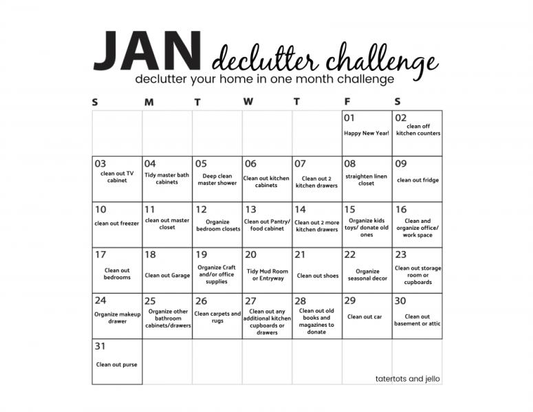 January 2021 Declutter Challenge