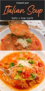 Keto Instant Pot Spicy Italian Soup