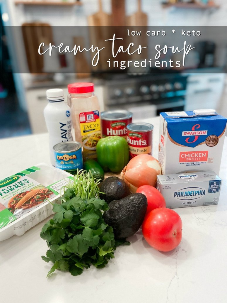 Low-Carb Creamy Taco Soup (Keto). Creamy taco soup filled with veggies and spicy taco flavor!
