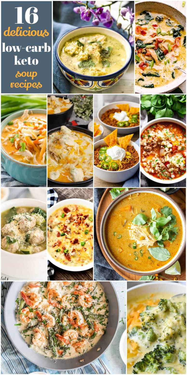 16 Low-Carb Soup Recipes Your Whole Family will Love! Try these delicious low-carb soup recipes your whole family will love!