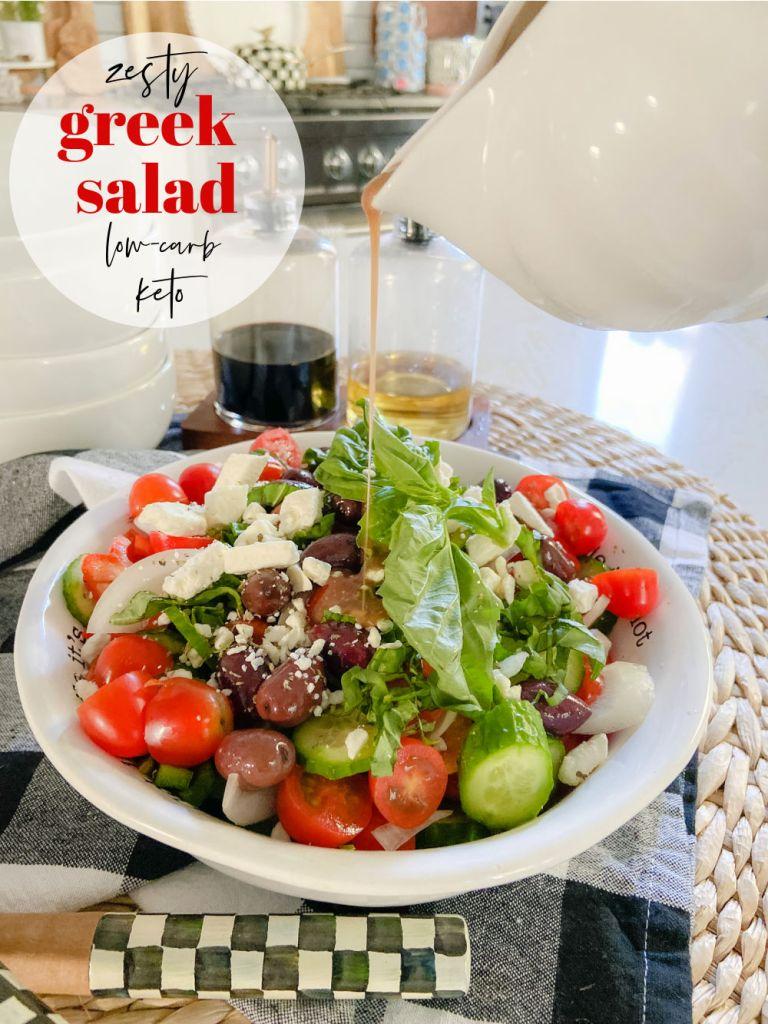 Zesty Greek Keto Salad