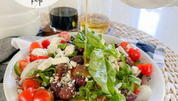 Zesty Keto Greek Feta Salad