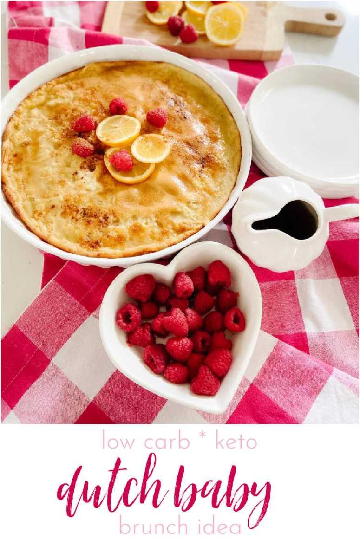 Lemon Berry Keto Low-Carb Dutch Baby Pancake Recipe