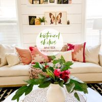 Botanical Wall with 6 Free Printables