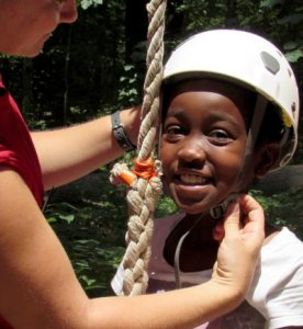 Girl Preparing to Zipline