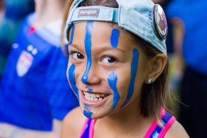 Girl with Blue Face Paint