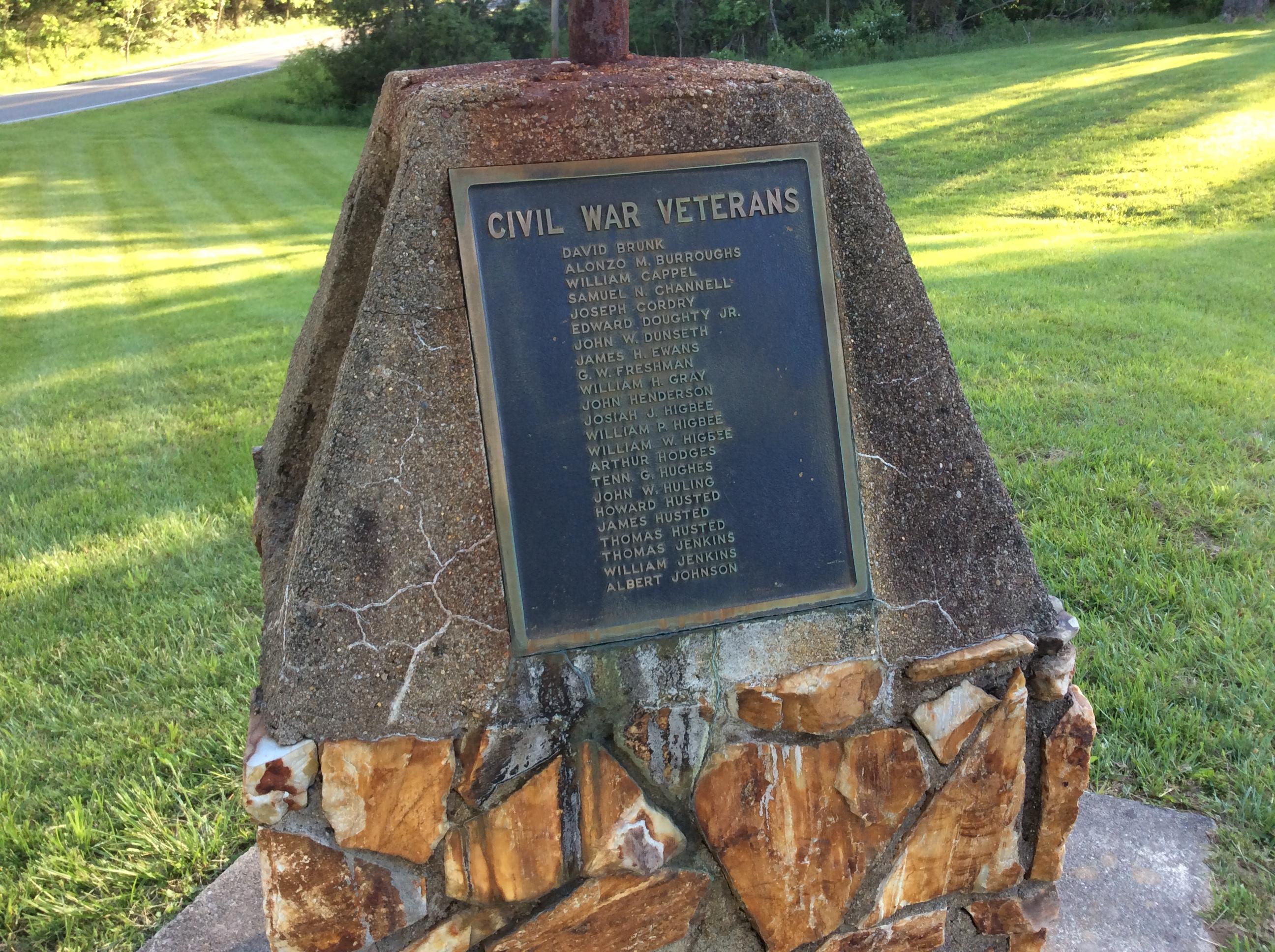 Civil War Veterans Plaque