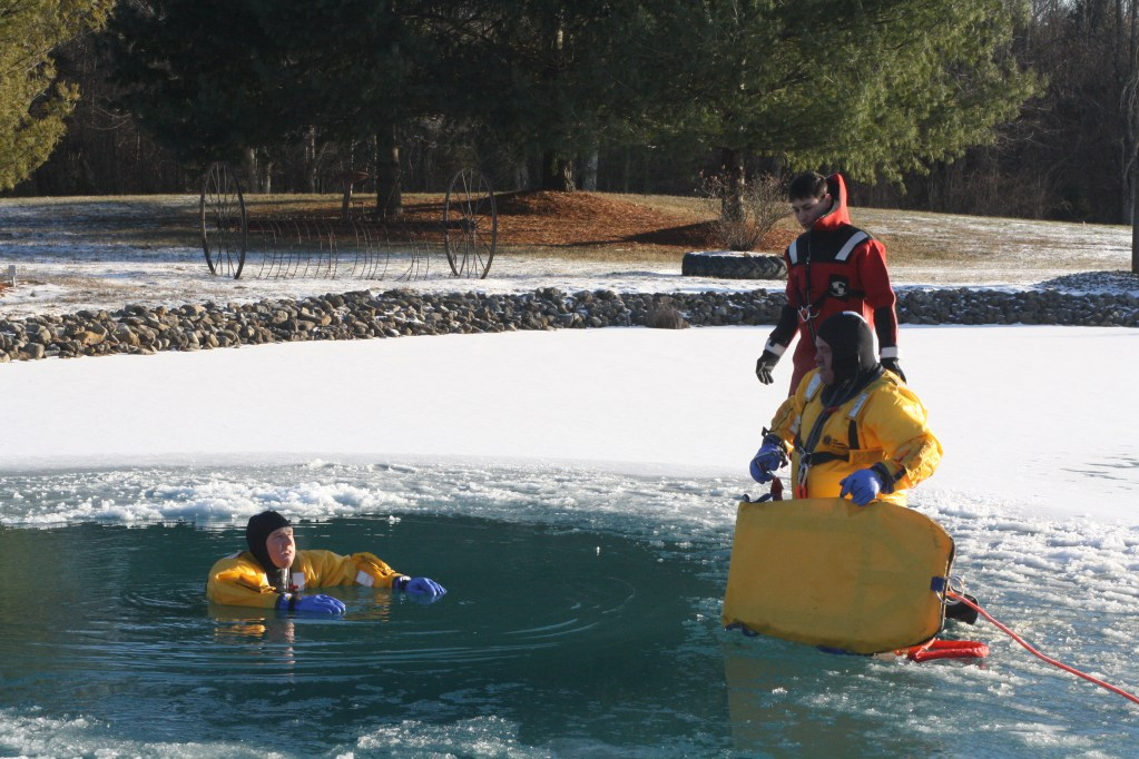 Ice rescue training 2018