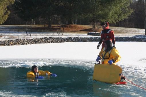 Ice rescue training 2018