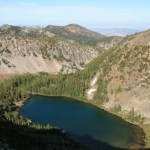 Sunset Lake, as viewed from the rim as we headed down...