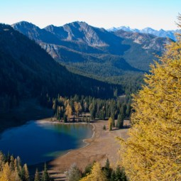 From the pass, you could look down into the Boiling Lake basin, large park like meadows surround this shallow lake, and in the far distance, across hidden Lake Chelan, you can see the peaks of Glacier Peak Wilderness.