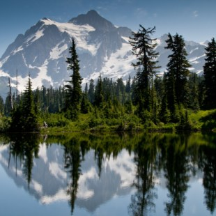 Another iconic photo, off of Picture Lake, often photographed. We were lucky to get this shot, as most of the day, Mt. Shuksan was shrouded in fog and haze.