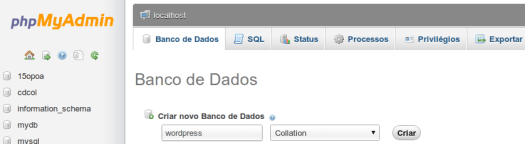 phpMyAdmin_criar_banco_de_dados