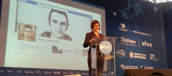 Rainey Reitman, diretora de ativismo da EFF, na Campus Party Brasil.