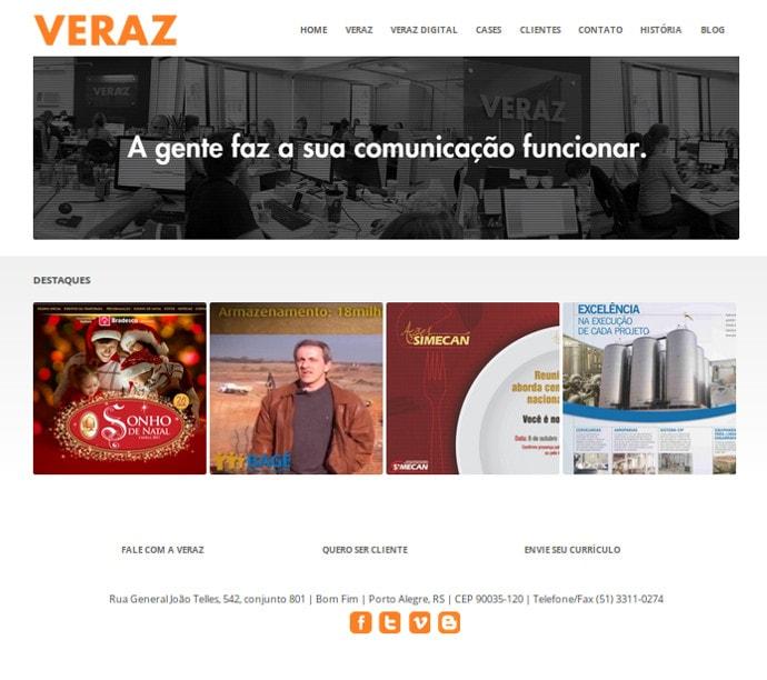 Veraz – homepage